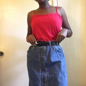 80s jones New York buttoned up Jean skirt